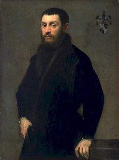 Tintoretto or Jacopo Robusti Tintoretto (Real name: Jacopo Comin) (Italian 1518–1594) [Renaissance, Mannerism], Young Man of the Renialme Family, c. 1547-1548.