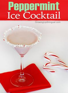 Peppermint Ice Holiday Cocktail
