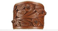Ralph Lauren Tooled-Leather Cuff