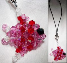 Beaded 3D Crystal Fish with tutorial link to share! - JEWELRY AND TRINKETS