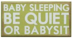Amazon.com: Primitives by Kathy Box Sign, Baby Sleeping, 8-Inch by 4-Inch: Home & Kitchen