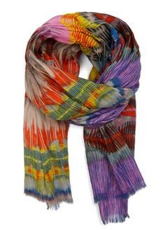 So-oo many colors in this Print Scarf ~ #fashion #Spain ~ $34.99