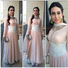 Karisma Kapoor in a Manish Malhotra Anarkali Indian Attire, Indian Wear, Indian Style, Pakistani Outfits, Indian Outfits, Saris, India Fashion, Asian Fashion, Women's Fashion