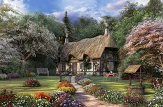 English Cottage! Pretty as a picture!! I could live there if real.