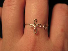 Wire Wrapped Cross MADE to ORDER Adjustable Ring