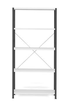 Easy-to-assemble office shelving suitable for archiving and office storage or light-duty warehouse use. Includes floor protection and adjustable shelves. Warehouse Shelving, Screws And Bolts, Space Saving, Dark Grey, In The Heights, Bookcase, The Unit, Shelves, Flooring