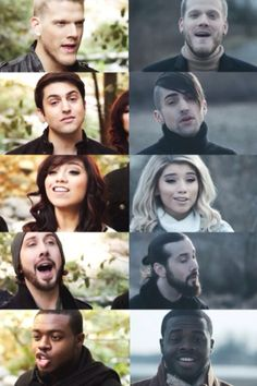 then v. now #pentatonix this isn't super accurate now..but close enough.hah