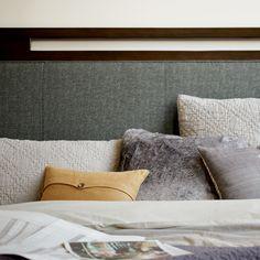 Bernhardt. Mercer Upholstered Sleigh Bed, detail