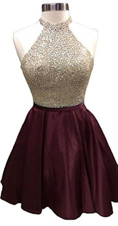 HEIMO Womens 2017 Sequined Keyhole Back Homecoming Dresses Beaded Prom Gowns Short 4 Navy * To view further for this item, visit the image link. (This is an affiliate link) Cheap Homecoming Dresses, Cute Prom Dresses, Grad Dresses, Sexy Dresses, Dress Outfits, Summer Dresses, Wedding Dresses, Homecoming Dresses For Freshman, Short Dresses For Prom