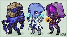 Mass Effect chibis by lumi-mae.deviantart.com on @DeviantArt