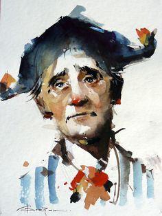 Watercolour-Acuarela-Corneliu-Dragan-Targoviste-portret-1