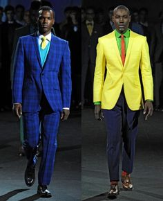 Ozwald Boateng's Spring/Summer 2011 collection is still making me happy. This man defines and then redefines tailoring, just for fun. British fashion at its sartorial peak Ozwald Boateng, Gentleman Mode, Gentleman Style, Dapper Gentleman, Suit Fashion, Mens Fashion, Men's Business Outfits, African Clothing For Men, Afro