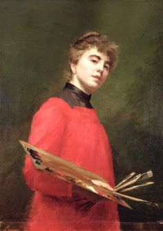 Self Portrait, 1889 (oil on canvas), Childers, Emily (Milly) / Leeds Museums and Galleries (Leeds Art Gallery) U. / The Bridgeman Art Library Leeds Art Gallery, Female Painters, Art Gallery Uk, Female Art, Woman Painting, Art Photography Portrait, Portrait, Portrait Art, Female Artists