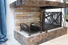 Оформление камина в доме коваными изделиями по нашему проекту.  Камин, дровница, каминный набор от #Metalmade: http://www.metal-made.ru/about/