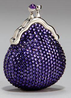 Judith Leiber Clutch in Deep Lavender ♥