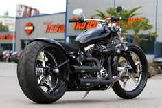 "New #Thunderbike Harley-Davidson Softail Breakout project with our 21"" / 23"" Open Mind custom wheels."