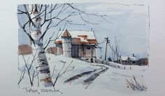 https://flic.kr/p/QzLAdR | Winter Barn sketch with two colors | Latest video posted on YouTube. Link to my YouTube Channel is in my bio or click the following link.  m.youtube.com/c/petersheelerart   My sketches now for sale on Ebay:    www.ebay.ca/sch/sheelerart/m.html?_nkw=&_armrs=1&...