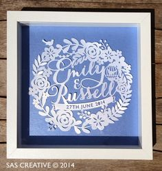 Wedding Day Papercut Gift