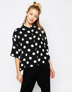 Monki+Polka+Dot+Shirt