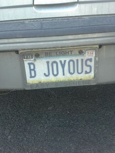 I take pictures of vanity plates. This is one of my favorites.
