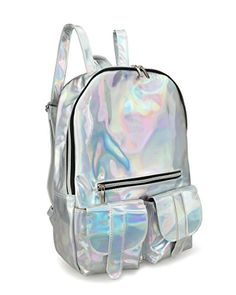 2110d068ed451 Hoxis Gammaray Rainbow Hologram Backpack Bling Glitter Womens Bags   Check  out this great product.