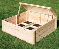 Cold Frame - Snugly interlocking cedar sections feature an insulated plastic hinged portion that opens in two positions with attached cedar props. and gently sloping forward to Garden Plants Vegetable, Planting Vegetables, Outdoor Retreat, Outdoor Decor, Walpole Woodworkers, Walpole Outdoors, Cold Frame Gardening, Raised Garden Planters, Building Raised Beds