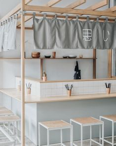 Home Decoration For Ganpati Referral: 6952930218 Cafe Shop Design, Kiosk Design, Restaurant Interior Design, Cafe Concept, Café Bar, Small Restaurants, Shop Interiors, Commercial Design, Stores