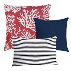 Pillow set of three - Nantucket theme.