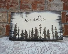 Wander - reclaimed wood signYou can find Wood signs and more on our website. Reclaimed Wood Signs, Diy Wood Signs, Painted Wood Signs, Rustic Wood Signs, Hand Painted, Rustic Decor, Painted Quotes, Wood Signs Sayings, Wood Pallet Signs