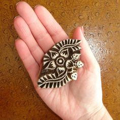 Flower Stamp: Clay Stamp, Hand Carved Wood Printing Block, Handmade Wooden Block Stamp, Indian Stamp, Textiles, Crafts, Ceramics, Pottery
