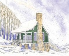 Home Plans HOMEPW76016 - 936 Square Feet, 2 Bedroom 1 Bathroom Country Home with