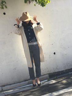 武智志穂さんのデニムジャケット「thpry+color 【TC】Gジャン」を使ったコーディネート