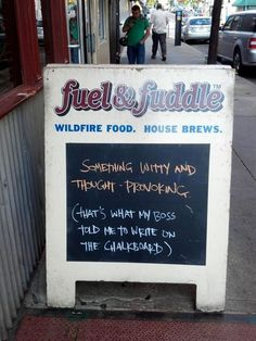 Most Amusingly Absurd Restaurant Chalkboards | Happy Place