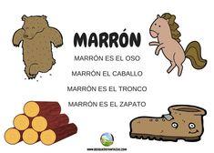 color marron - Juegos infantiles Reggio Emilia, Preschool Literacy, Activities For Kids, Childhood, Language, Classroom, Education, Angels, Deco