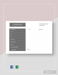 Schedule Templates, Planner Template, Letterhead Template Word, Estimate Template, Psychology Books, Cleaning Business, Word Doc, Life Science, Letter Size