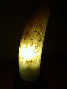 "Viking Horn Table Lamp ""Vegvisir"""