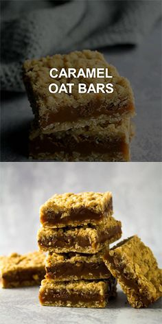 Caramel Oat Bars Caramel Oat Bars – Deliciously chewy oat bars that are made with an oaty, buttery crumb, and filled with a thick layer of caramel and chocolate chips. The perfect sweet treat! Köstliche Desserts, Delicious Desserts, Dessert Recipes, Yummy Food, Lemon Recipes, Sweet Recipes, Pear Recipes, Chocolate Oats, Crack Crackers