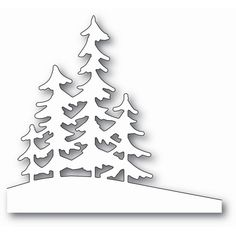 Memory Box ALPINE TREES Craft Die 99829 - - Memory Box dies are made of durable steel and usable in nearly every machine on the market! Use on cardstock, felt, fabric or shrink plastic. Cut, stencil, emboss and create! Christmas Stencils, Christmas Art, Christmas Decorations, Christmas Ornaments, Handmade Christmas, Tree Decorations, Christmas Clipart, Tree Crafts, Paper Crafts