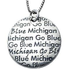 Collegiate University of Michigan Infinity Necklace