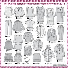 Ottobre Woman Autumn 2013 Magazine - Pattern previews from Sew From the Heart
