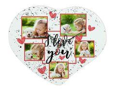 Orologio cuore con grafica collage