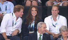Both Will and Kate cracked smiles when Prince Harry chatted with them | 22 Times Kate Middleton and Prince Harry Got a Kick Out of Each Other | POPSUGAR Celebrity