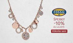 Akcia šperky Fossil - 10% od 4.6.2015 http://www.1010.sk/c/sperky-fossil/