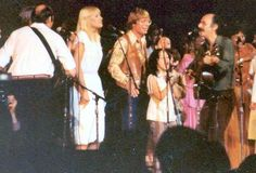 Bethany Yarrow, age 6, singing with John Denver and Peter, Paul & Mary, photo by Will Kruger