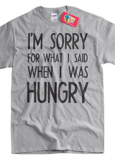 I'm Sorry for what I said when I was Hungry Shirt v2 black ink bolt typography tshirt text tshirt T-Shirt Tee Shirt T Shirt Mens  Ladies