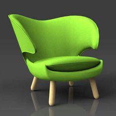 Finn Juhl Pelikan chair.. Looks like it is grinning a little bit