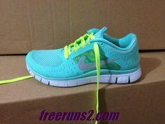 48ba0b6096d94 Nike Free Run 3 Womens Tropical Twist Reflect Silver Pure Platinum Volt  Lace Shoes Cheap Sneakers
