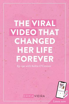 The Viral Video That Changed Her Life Forever with Keltie O'Connor - Erika Vieira Video Channel, Blog Topics, You Youtube, Blogging For Beginners, Social Media Tips, Viral Videos, How To Start A Blog, Erika, Scary