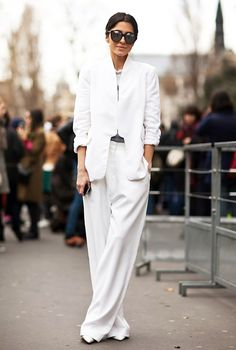 slouchy white suit
