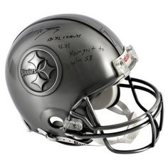 NFL Ben Roethlisberger Pittsburgh Steelers Autographed Pewter Helmet with Multiple Inscriptions
